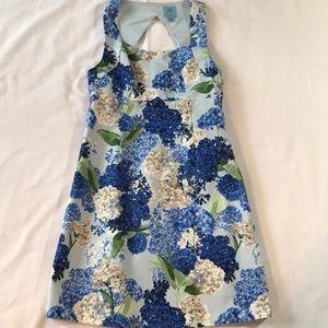 Blue CeCe cutout Dress